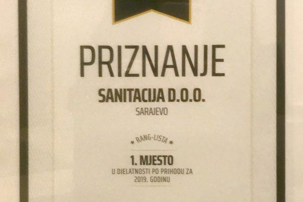 Sanitacija – Prvo Mjesto U Svojoj Djelatnosti U BiH